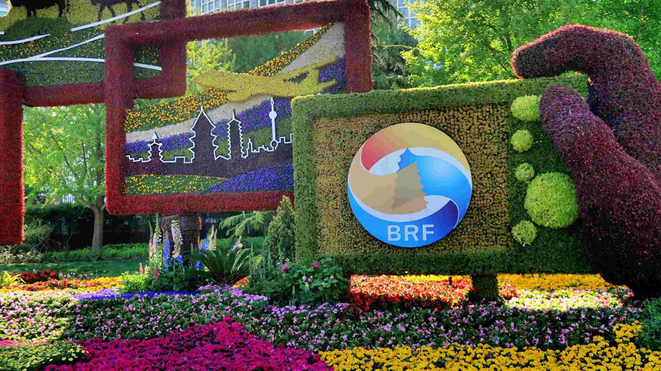 BRF logo and flowers